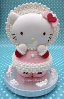 3D Hello Kitty Cake by ginas-cakes