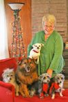 Margaret And Her Doggie Family by TeaPhotography
