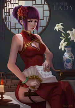 Chinese Lady by ShadowJWu