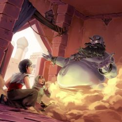 Aladdin and the Magic Lamp by nikogeyer