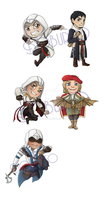Assassin's Creed keychains by Boburto