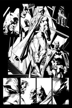 Superman Batman inks by IanDSharman