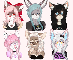 June Bust Commissions by faenatical