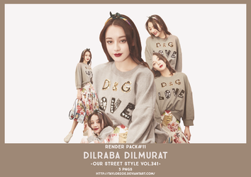 [RENDER PACK]#11 Dilraba Dilmurat Our Street Style by TaylorZoe