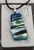 Dichroic Pendant - Mixed colors by Dimolicious