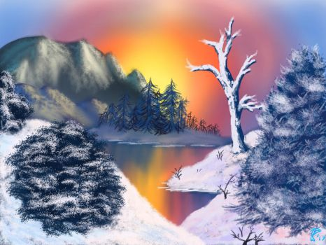 Rossesque Winter Landscape by CageyJay