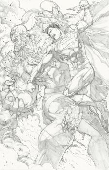 Superman vs Doomsday by Ace-Continuado