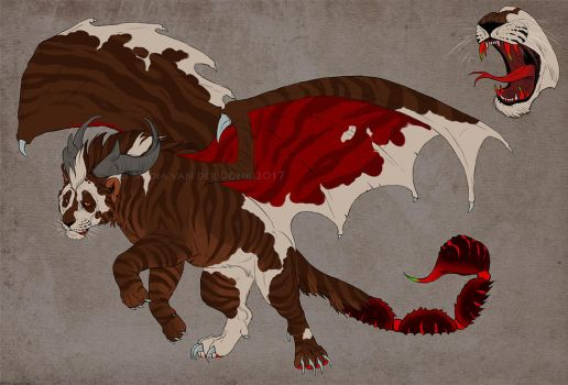 Manticore character design - CLOSED/SOLD! by NadiavanderDonk