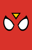 Spider-Woman Mask Minimalist Design by burthefly