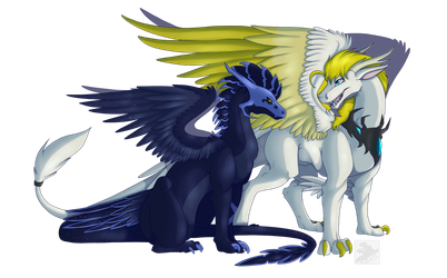 :Commish: - Nocturnia and Frostlight (2/2) by Venus-Dragoness