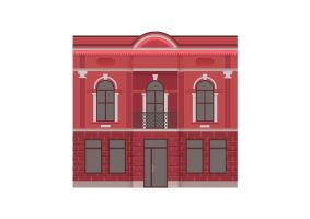 Detailed Retro Vector Building by superawesomevectors