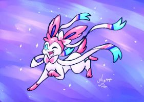Sylveon by NightWolfa