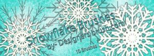 Snowflakes Brushes by designersbrush