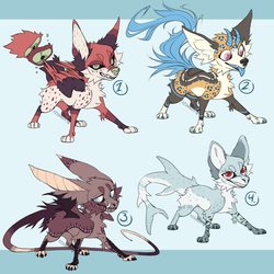 Canine Adopts (1/4 Open) by HimeAdoptions