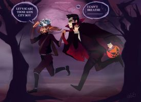 Halloween in Republic City by Uxia15