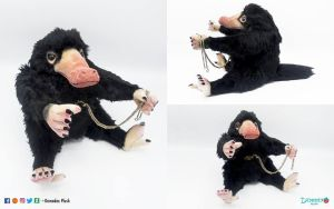 Niffler plush by DemodexPlush