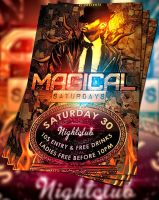 PSD Magical Saturdays Flyer by retinathemes