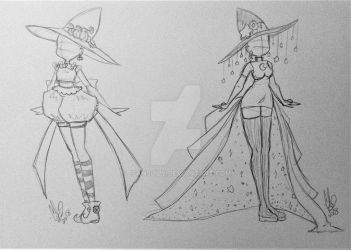 Light and Dark Witch Costume Adopts CLOSED by JeansLily