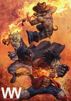 Fire Fist Brothers by waLek05