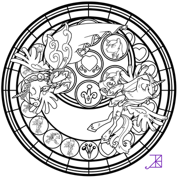 Stained Glass: This Day Aria -line art- by Akili-Amethyst