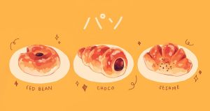 honey glazed bread by reikureii
