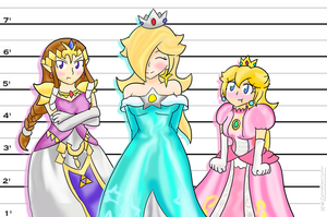 Princess Height Problems ~Request~ by Xero-J