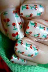 Yummy Cherry nailart by VeeviS2