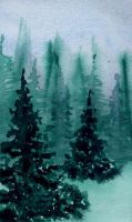 Pine trees  (IV) by lifeislikeajoke
