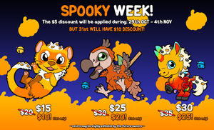 SHOKUBELL SP00KY WEEK 2018! [OPEN] by Cachomon