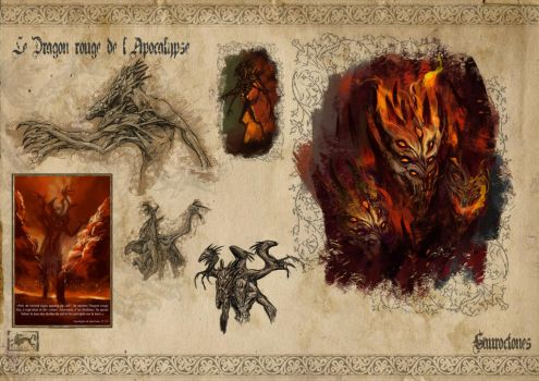 The Red Dragon of the Apocalypse by Popuche