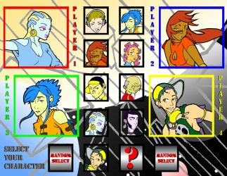 Character Select Screen by BlkSamurai