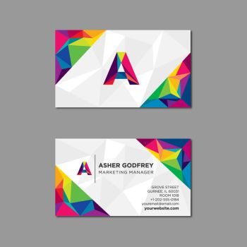 Polygonal business card in multiple colors by coddih