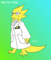 Abyss Alphys redesign 2017 by Meta-Kaz