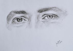 Eyes of a friend, charcoal exercise by jane-beata