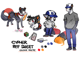 reference sheet commission ANTHRO AND FERAL by Cipple
