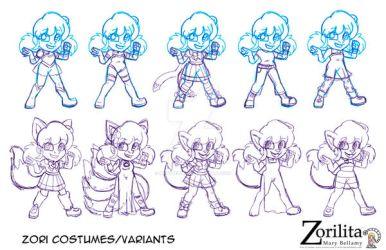 Zori variants by MaryBellamy