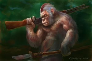 Ape Warrior by gielczynski