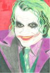Heath Ledger Joker by horrorshow-artwork
