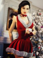 Christmas Pin-Up 16 by LaMuserie