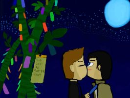 Destiel, Dean's wish Tanabata Wish by kev4ever