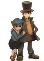 layton and luke - for chassy by angryangryasian
