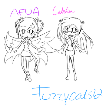 Catalina and Afua chibis by fuzzycats12