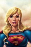SUPERGIRL COMMISSION (color version) by DAVID-OCAMPO
