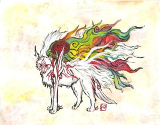 Okami Amaterasu by painfulVeracity