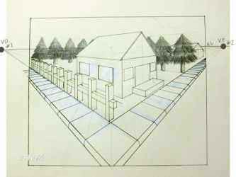 Two Point Perspective Street by Yoshimi-Ayumata