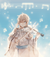 Magical Otoge: Ven Playing the Violin by batensan