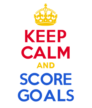 KEEP CALM and SCORE GOALS by Scrabblicious