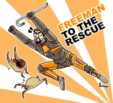 FREEMAN TO TEH RESCUE by rowleen