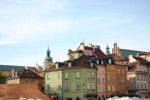 Colorful old city of Warsaw - Stare Miasto by ABDCrochet