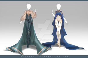 (CLOSED) Adoptable Outfit Auction 217 - 218 by JawitReen